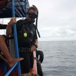 Besiruošiant šuoliui į vandenį