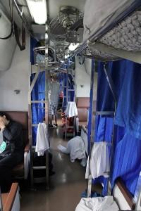 Traukinyje iš Bangkoko į Nong Khai (Laoso pasienį)